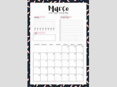 Calendario 2019 34LD Papelería Pinterest