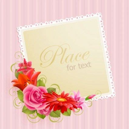 flower greeting cards  vector  vector  adobe