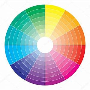 Color Spectrum Abstract Wheel  Colorful Diagram Background