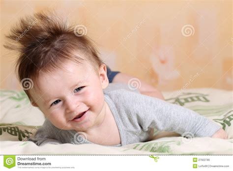 mohawk hairstyle for baby royalty free image