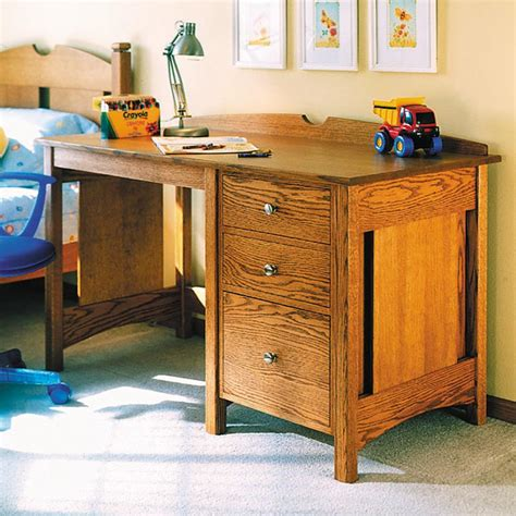 kids oak desk woodworking plan  wood magazine