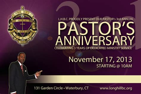 pastor anniversary program templates sle invitation to pastors anniversary images 23908
