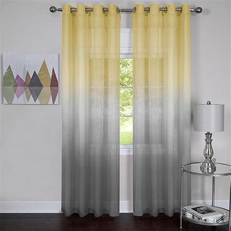 grey and yellow valance yellow and grey window curtain panels ease bedding with