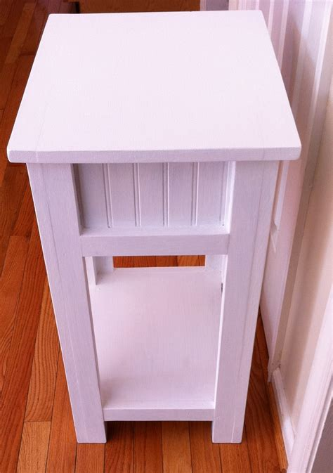 Simple Nightstand by White Simple White Nightstand Diy Projects