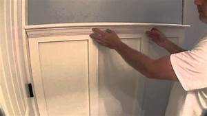 Build simple bathroom wainscot pt 2 youtube for Installing wainscoting in bathroom