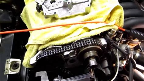 mercedes w140 s320 engine m104 timing chain cover u shaped gasket replacement part2 youtube