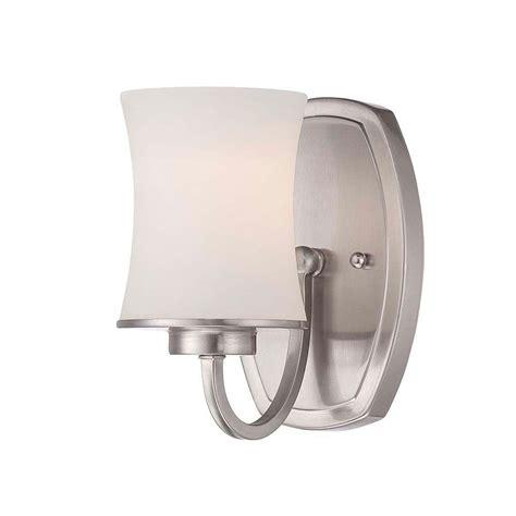 Home Depot Wall Light Sconce by Hton Bay Chaplinne 1 Light Satin Nickel Sconce 19405