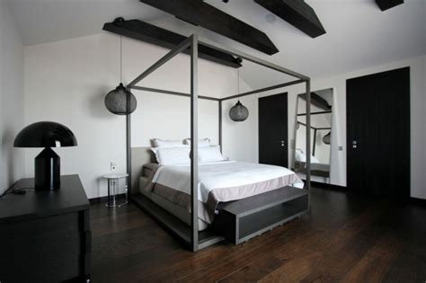 parquet dans une cuisine appartement moderne aménagé dans les combles d un immeuble