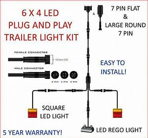6x4 Trailer Led Wire Kit Easy To Install Plug And Play