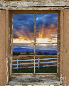 Images Country Windows by Rocky Mountain Country Beams Of Sunlight Rustic Window