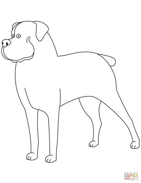 funny rottweiler coloring page  printable coloring pages