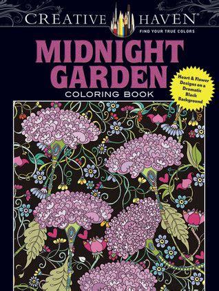 creative haven midnight garden coloring book heart flower