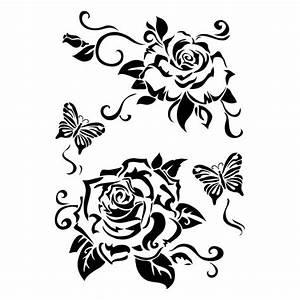 Henna Tattoo Schablonen : laser kunststoff schablonen din a4 rosen silhouette pinterest a4 stenciling and silhouettes ~ Frokenaadalensverden.com Haus und Dekorationen