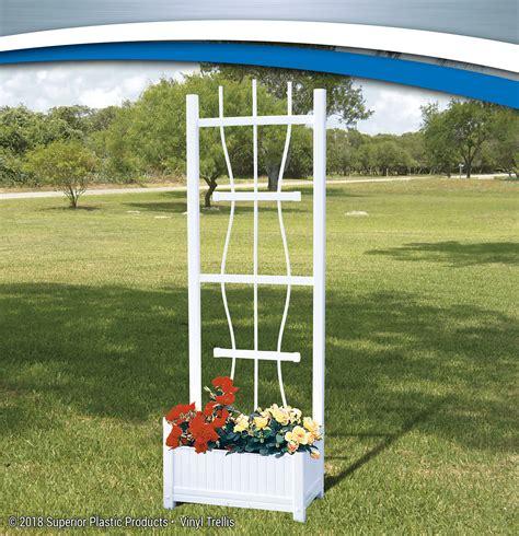 Outdoor Trellis by Quality Vinyl Garden Trellises Superior Plastic Products