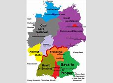 Germany stereotype map from a Bavarian point of view