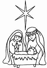 Jesus Coloring Pages Christmas Printable Christ Colouring Sheets Colour Children Worksheets Christain Manger God sketch template