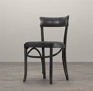 Vienna Cafe Side Chair Slate Leather Restoration