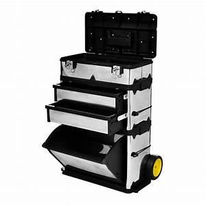 Caisse à Roulettes : valise bo te outils roulettes en inox ~ Teatrodelosmanantiales.com Idées de Décoration
