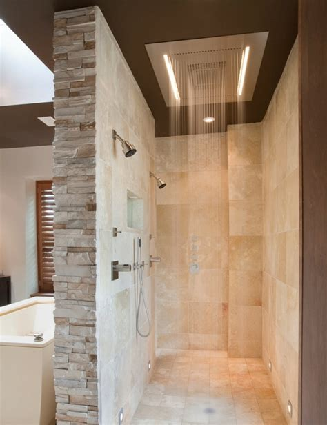 doorless walk in shower designs snail shell studio