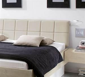Bett Mit Gepolstertem Kopfteil : stauraumbett massivholz mit bettkasten und lattenrost boneda ~ Markanthonyermac.com Haus und Dekorationen