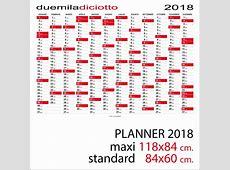 Calendario 2018 planner planning da muro standard o maxi