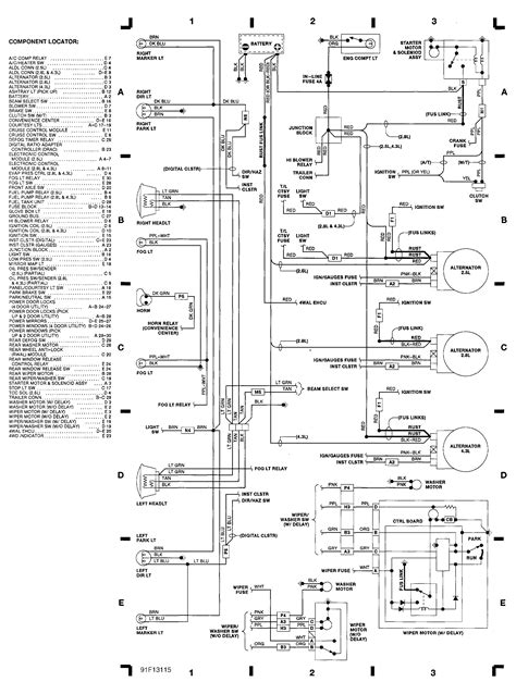92 Chevy Wiring Diagram by Engine Compartment Wiring Diagram 1991 Chevrolet 1500