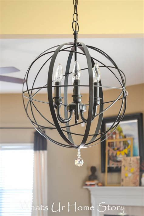 diy orb chandelier whats ur home story