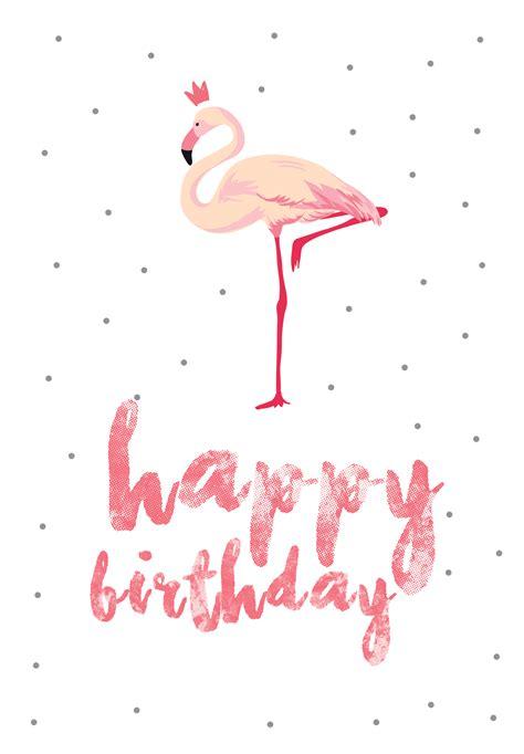 flamingo birthday birthday card   island