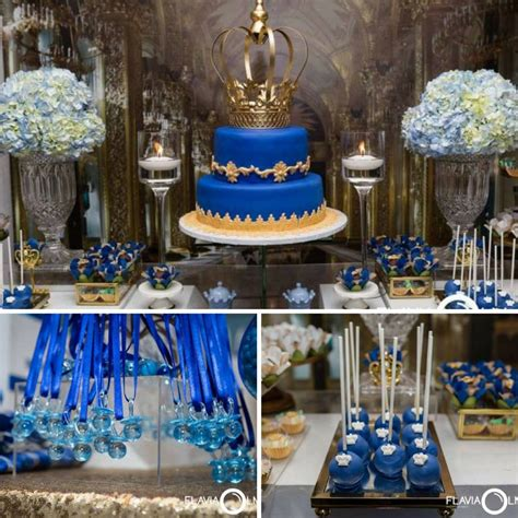 royal blue  gold prince shower baby shower ideas