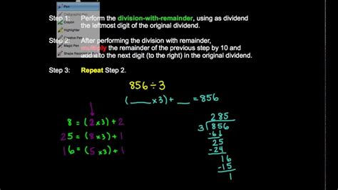 nbt division  remainder  digit divisor youtube