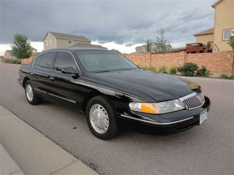 automobile air conditioning service 1997 lincoln continental auto manual purchase used 1997 lincoln continental 4 6 litre 32 valve v8 nice in colorado springs colorado