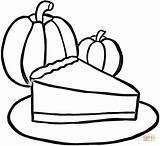 Coloring Pie Pumpkin Pages Printable Piece Pdf sketch template