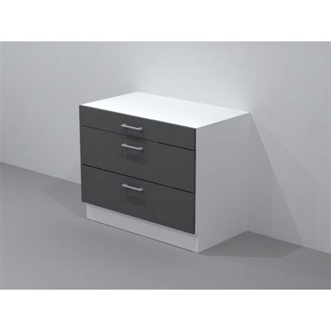meuble cuisine avec tiroir casserolier de cuisine pour plaque de cuisson largeur 120cm
