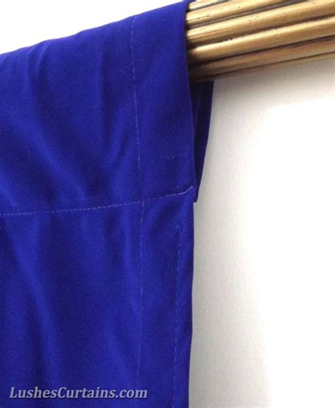 window treatment royal blue rod pocket curtain topper