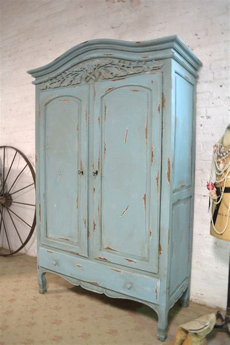 how to shabby chic a wardrobe french armoire painted cottage chic shabby by paintedcottages cupboards pinterest french