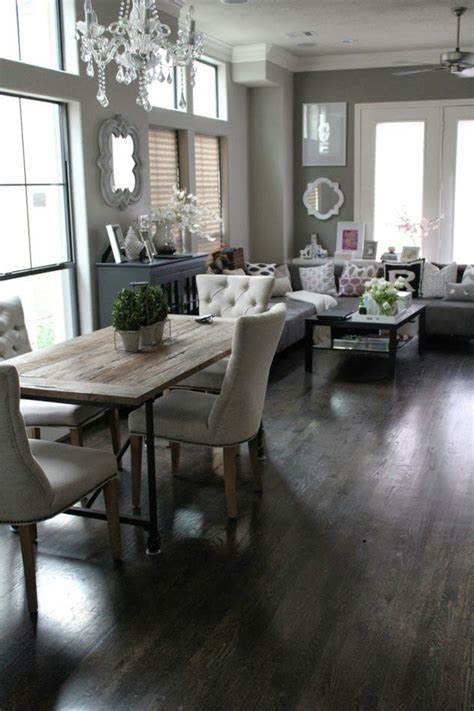 Living Room Dining Room Gray by This Is My Decor Style Contemporary Rustic Decor Is My