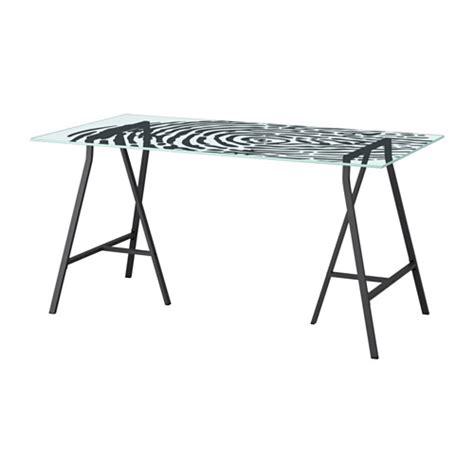 table bureau verre glasholm lerberg table ikea