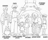 Totoro Coloring Ghibli Studio Characters Colouring Character Neighbor sketch template