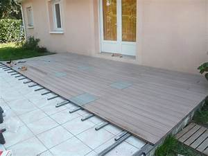 Lame De Bois Pour Terrasse : terrasse 100 composite autour de la piscine ~ Premium-room.com Idées de Décoration
