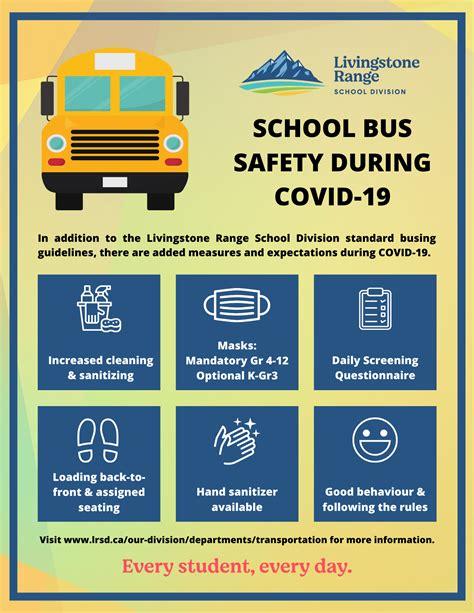 school bus safety  covid  livingstone range school division