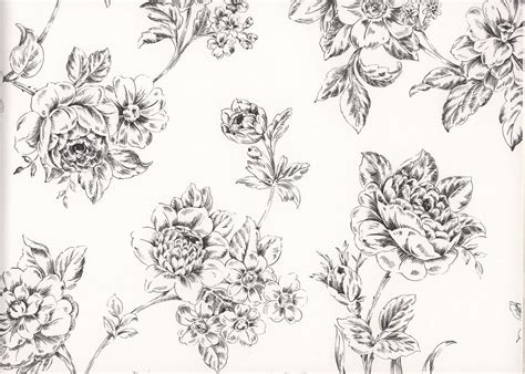 galerie black white floral elegant flowers vintage