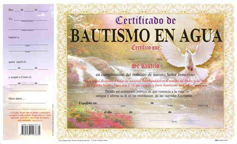 certificado de bautismo pqt de 15 editorial evangelica