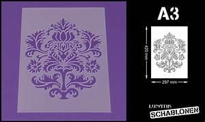 Schablone Wand Barock : schablone din a3 damask barock muster ornament akanthus lm25 ebay ~ Bigdaddyawards.com Haus und Dekorationen