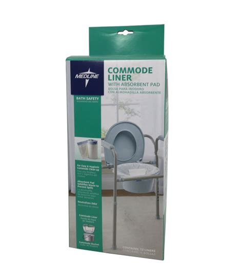bedside commode chair liners commode liners with absorbent pads for most commode buckets