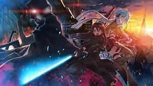 Anime, Artwork, Sword, Art, Online, Asada, Shino, Kirigaya, Kazuto, Shinkawa, Shoichi, Wallpapers, Hd