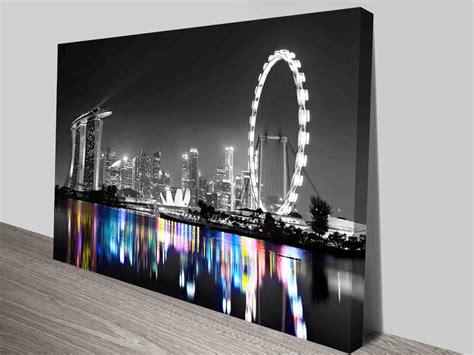 singapore city skyline art print  canvas wall art