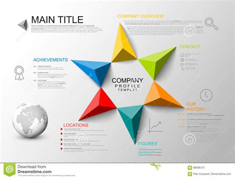 Company overview template stock vector. Illustration of ...