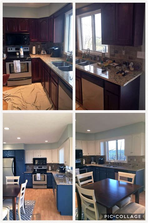 kitchen cabinet makeover  gf custom mixed milk paint colors general finishes design center