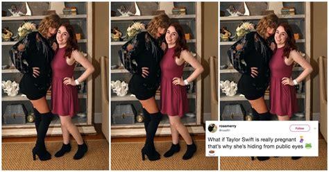 taylor swifts sweatshirt sparks pregnancy rumors teen vogue