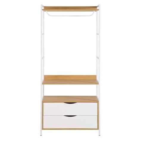 guardaroba bianco guardaroba a 2 cassetti in metallo bianco poppins